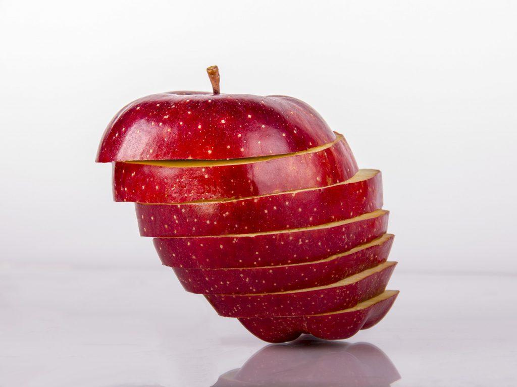 chocolate-coated apple